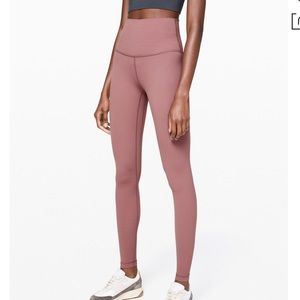 "Align pant 28"" LuluLemon - dusty mauve/pink"